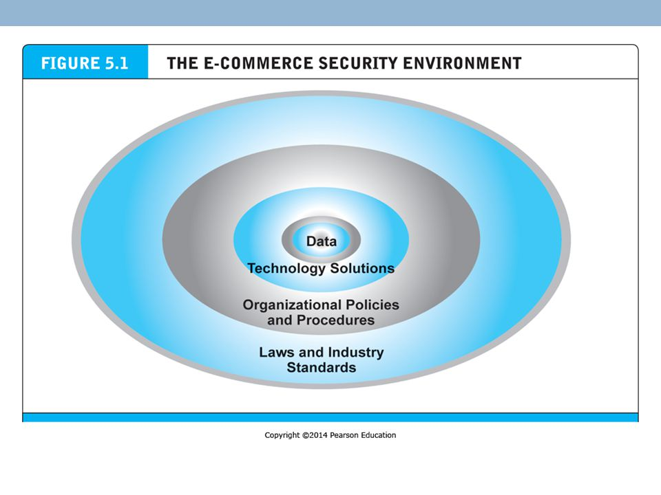 Management Policies, Business Procedures, and Public Laws In 2013, companies worldwide are expected to spend over $65 billion on security hardware, software, and services However, most CEOs and CIOs of existing e-commerce operations believe that technology is not the sole answer to managing the risk of e-commerce An e-commerce security plan would include a risk assessment, development of a security policy, implementation plan, creation of a security organization, and a security audit Implementation may involve expanded forms of access controls – IDs, passwords, access codes, biometrics (fingerprints, retina scans, speech recognition), etc.