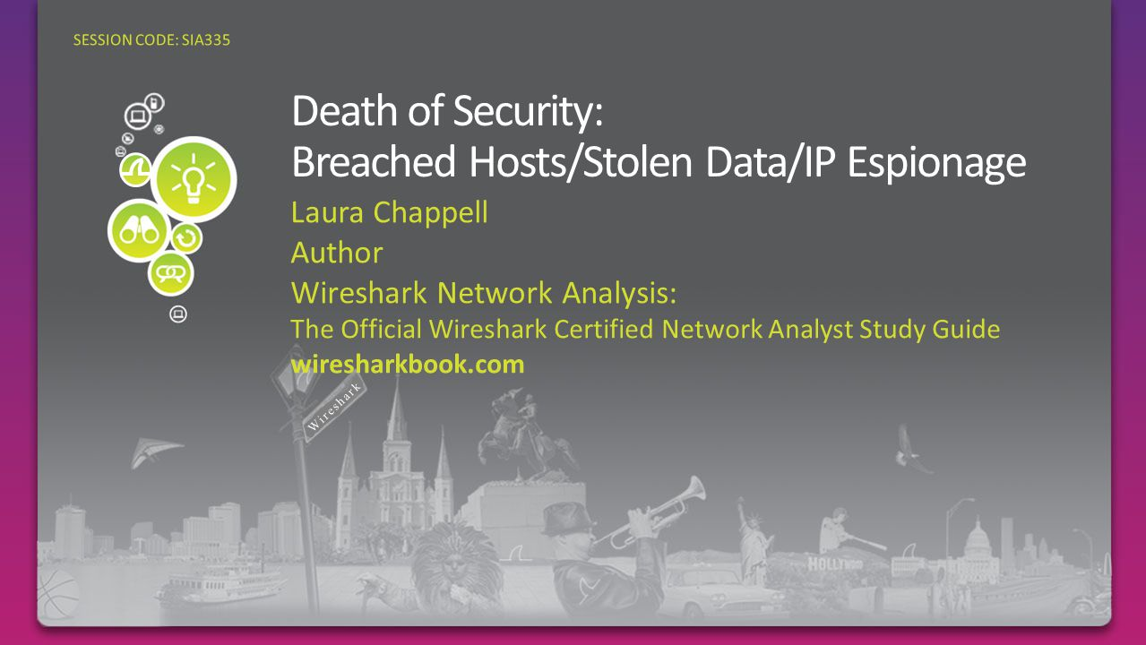 Laura Chappell Author Wireshark Network Analysis: The Official Wireshark Certified Network Analyst Study Guide wiresharkbook.com SESSION CODE: SIA335