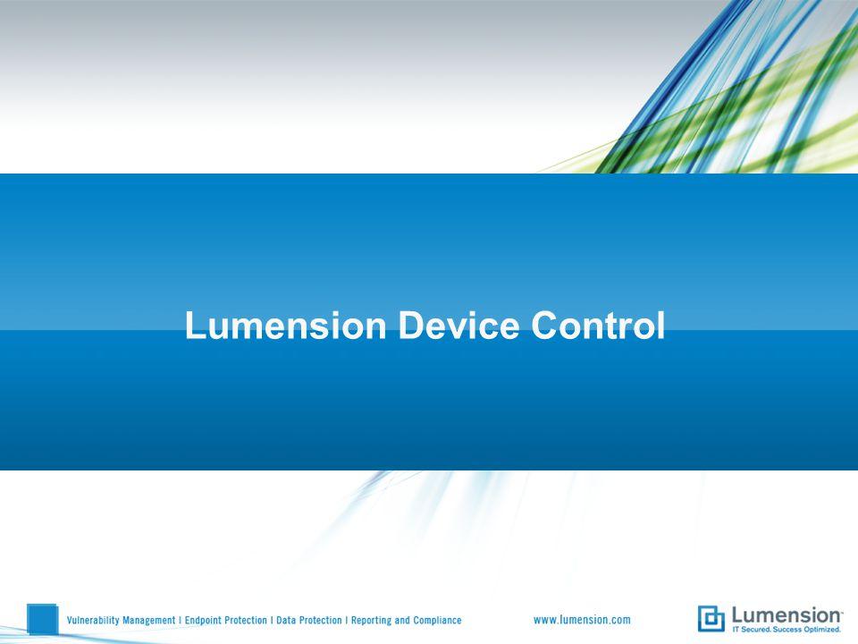 Lumension Device Control