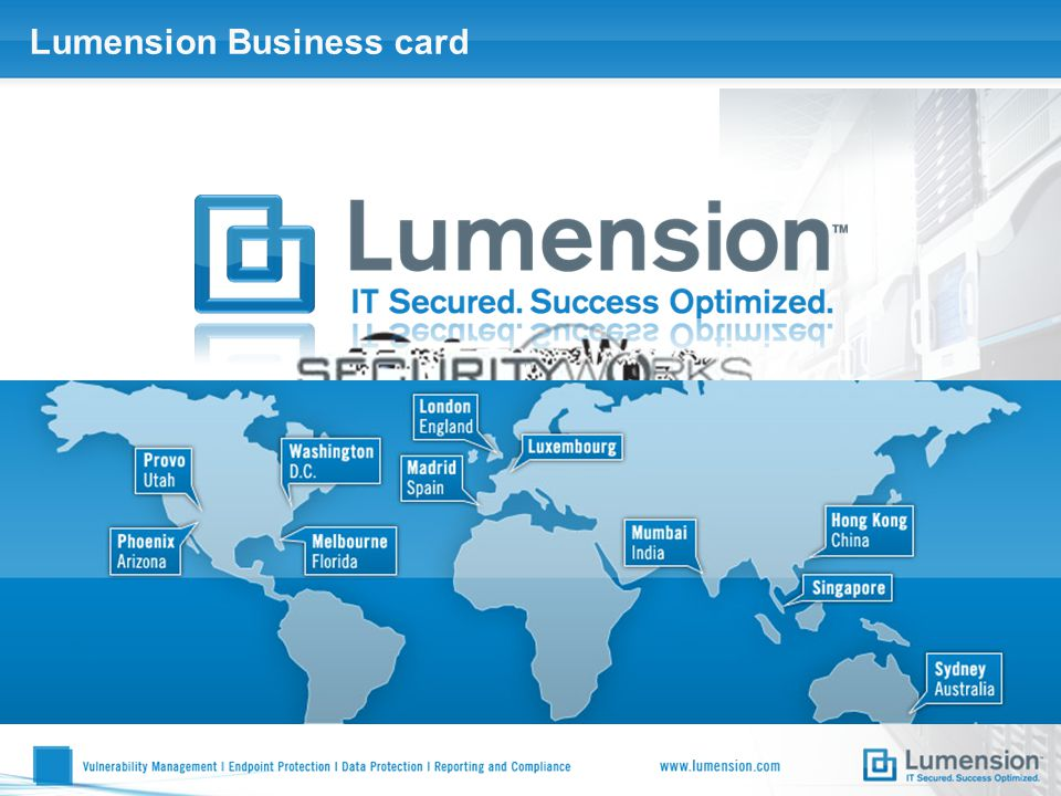 Lumension Business card