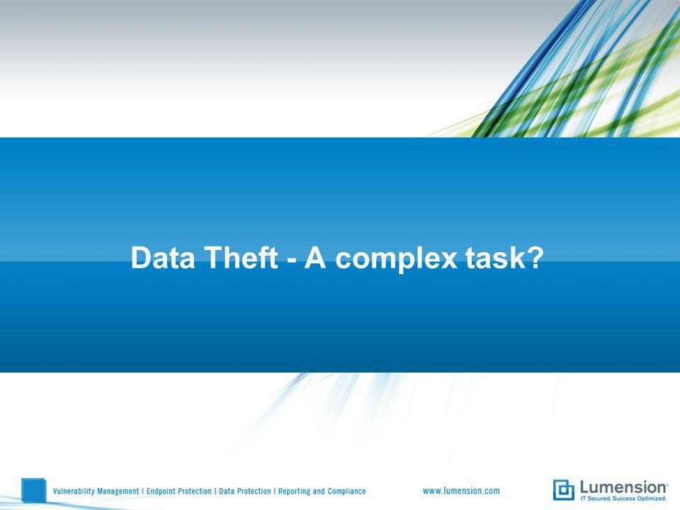 Data Theft - A complex task?