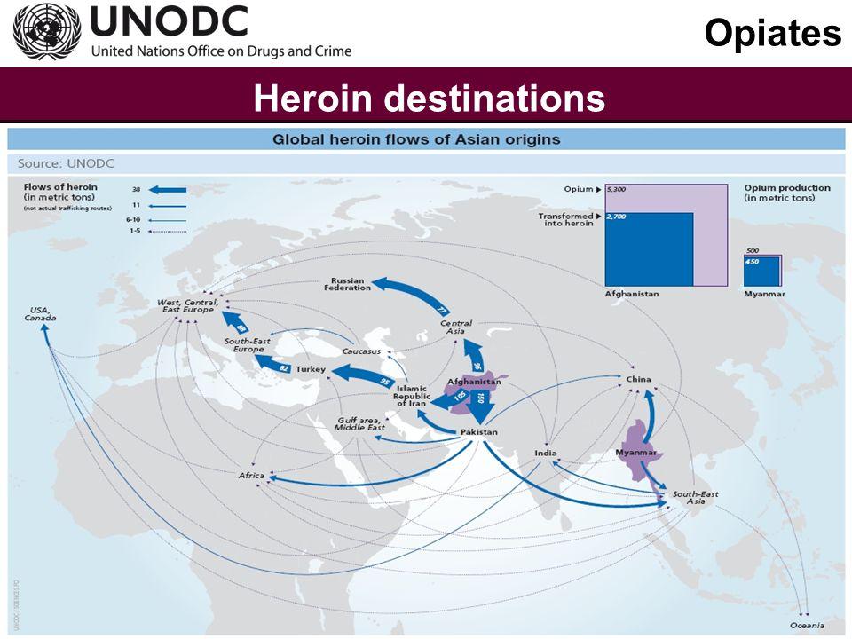 Main global cocaine flows Cocaine