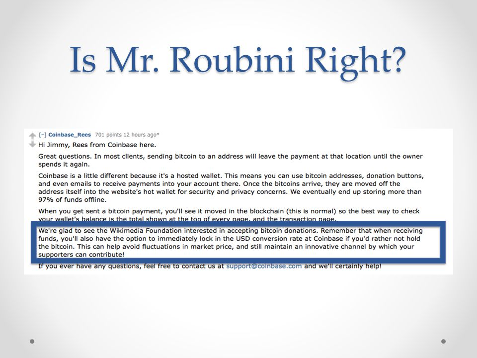 Is Mr. Roubini Right