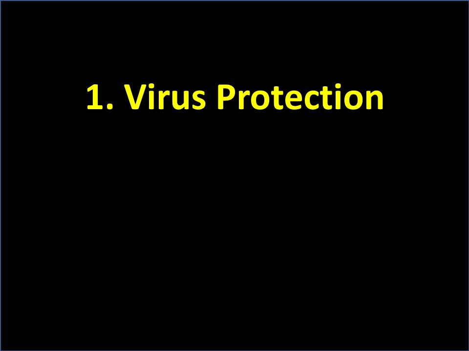 1. Virus Protection
