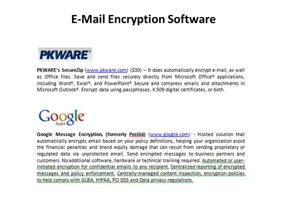 E-Mail Encryption Software