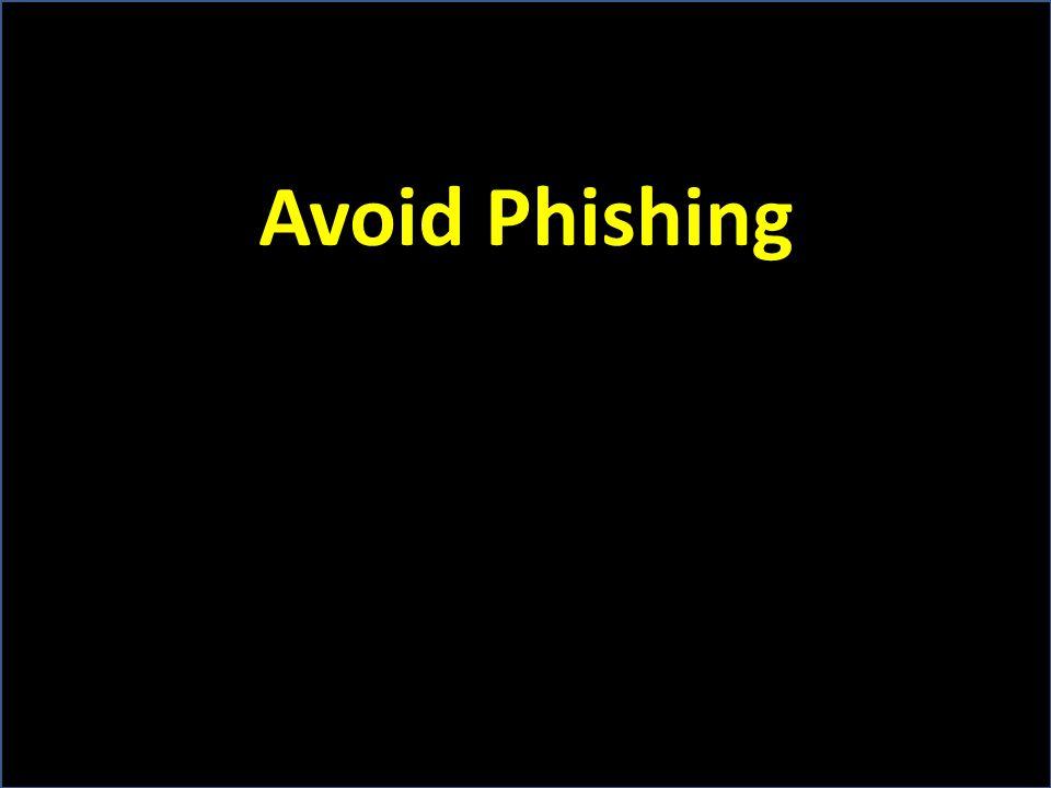 Avoid Phishing