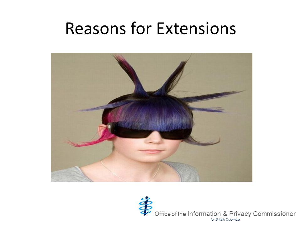 Reasons for Extensions Office of the Information & Privacy Commissioner for British Columbia