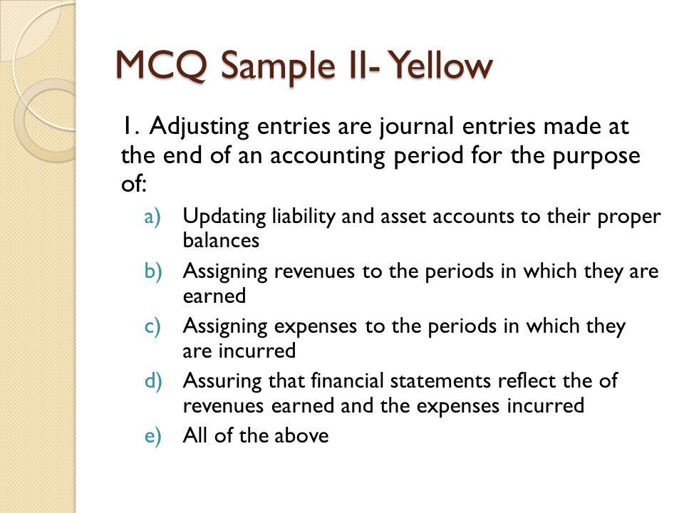 MCQ Sample II- Yellow 1.