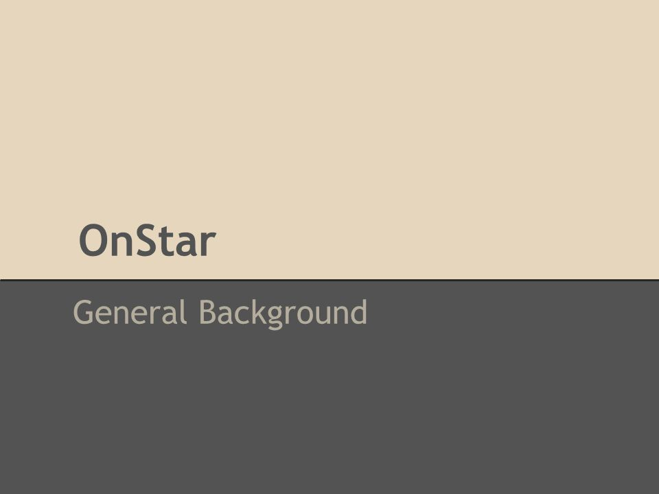 OnStar General Background