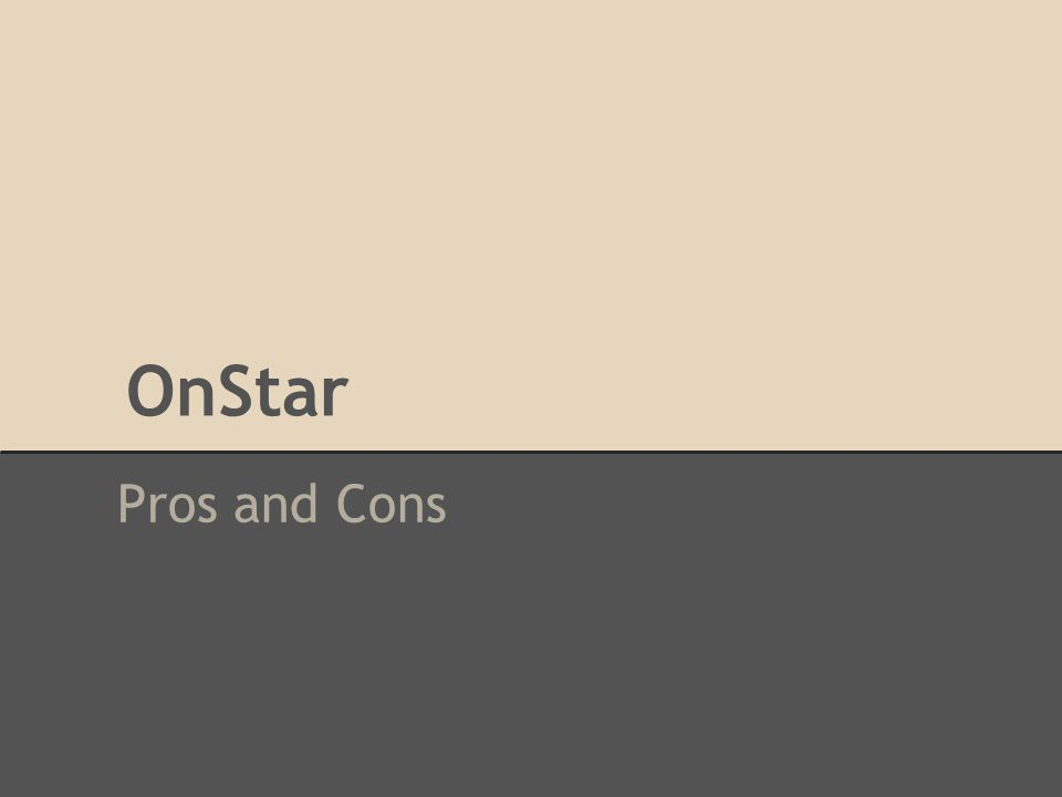 OnStar Pros and Cons