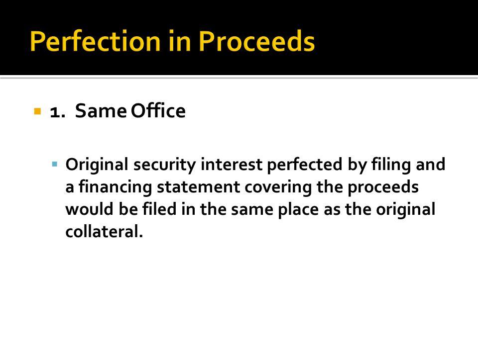  2. Identifiable cash proceeds
