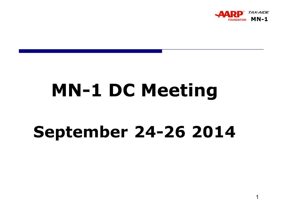 1 MN-1 DC Meeting September 24-26 2014