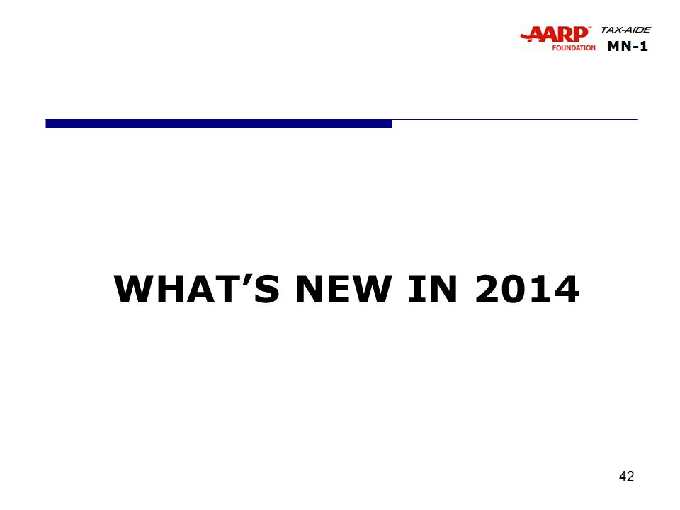 42 WHAT'S NEW IN 2014