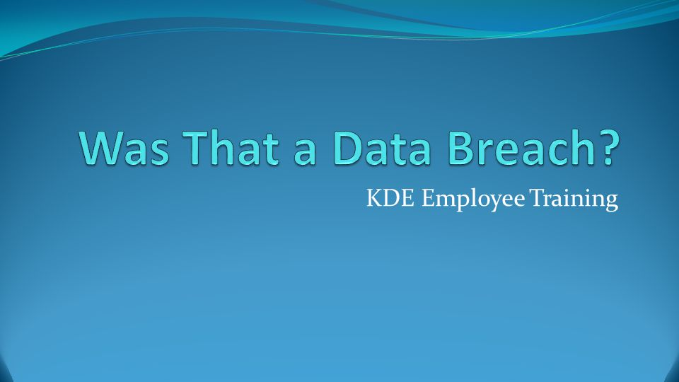 KDE Employee Training