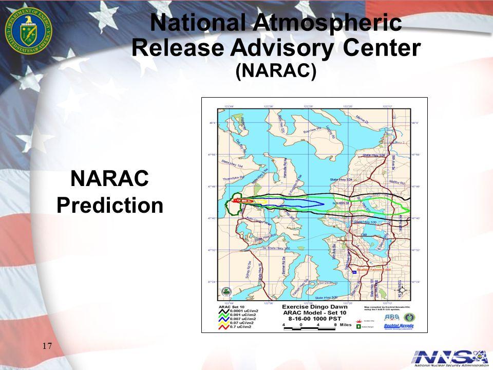 17 NARAC Prediction National Atmospheric Release Advisory Center (NARAC)