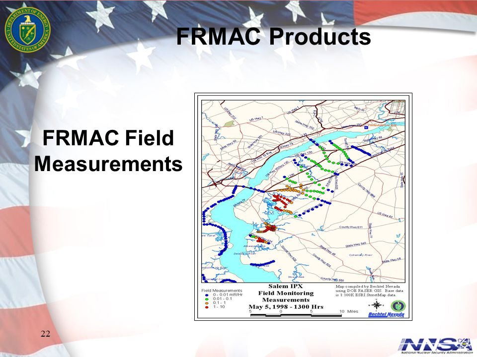 22 FRMAC Field Measurements FRMAC Products