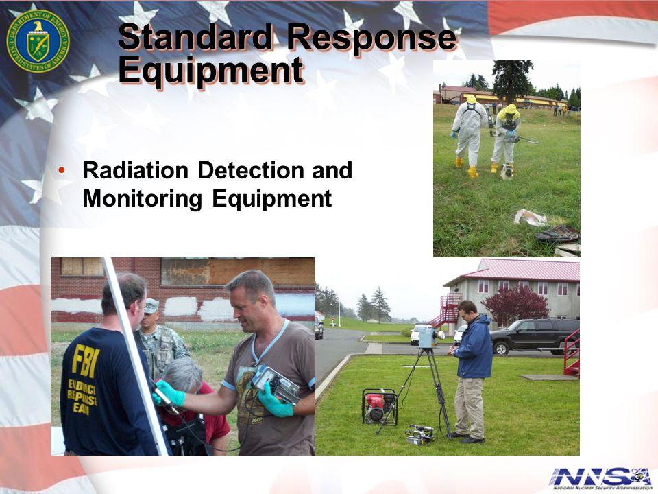 9 Standard Response Equipment Radiation Detection and Monitoring Equipment
