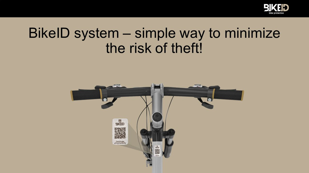 How it works.Bike has its own QR code. Scanning of code leads to online bicycle record.