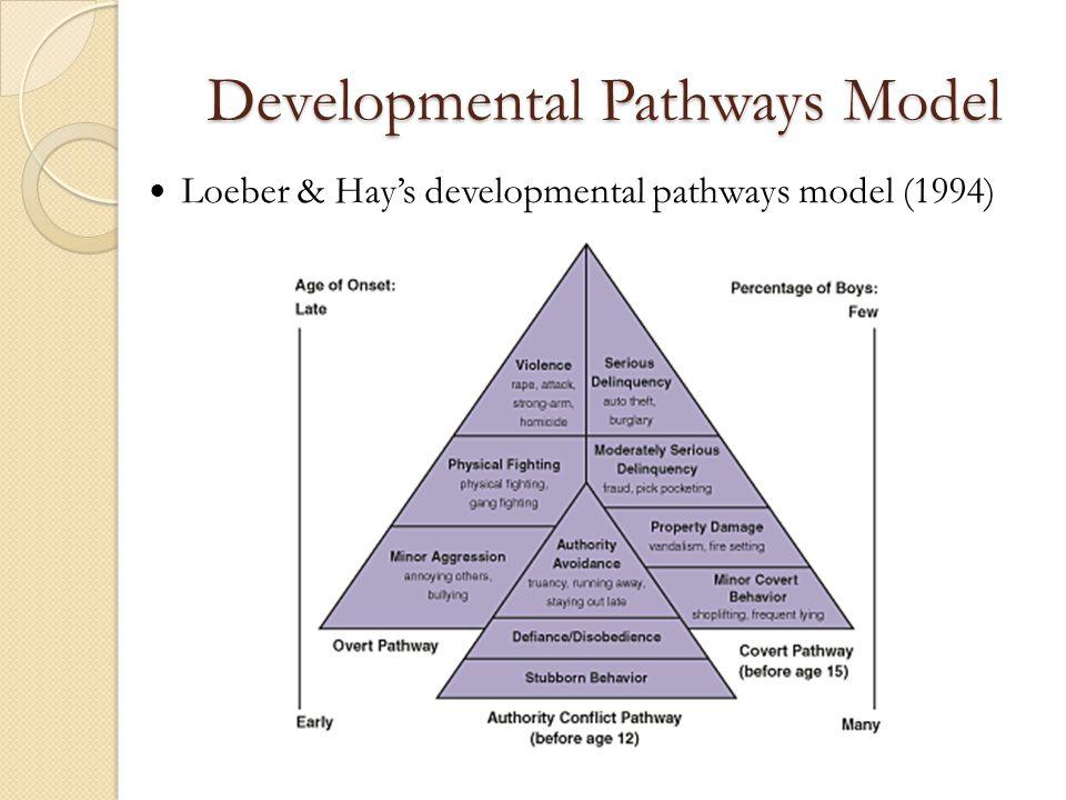 Developmental Pathways Model Loeber & Hay's developmental pathways model (1994)