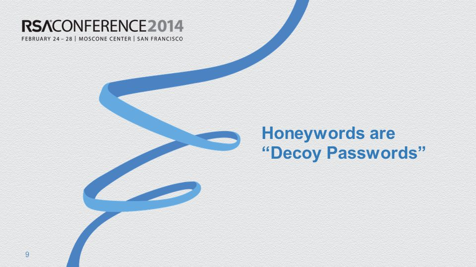 #RSAC honeywordgen.py (cont) Ensure generated passwords are unique def generate_passwords( n, pw_list ): print n passwords and return list of them ans = [ ] for t in range( n ): pw = make_password(pw_list) while pw in ans: pw = make_password(pw_list) ans.append( pw ) return ans 70