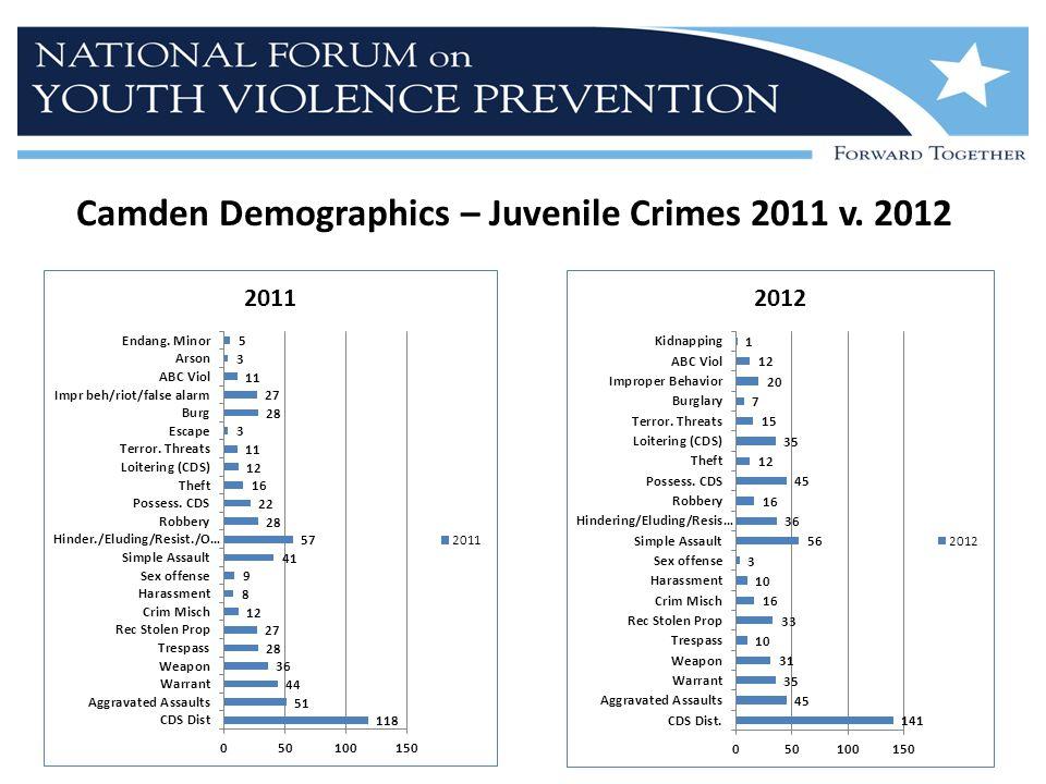 Camden Demographics – Juvenile Crimes 2011 v. 2012