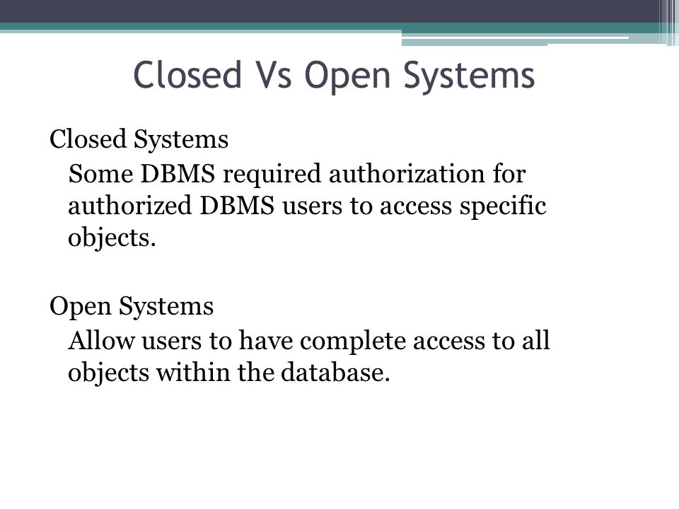 DBMS Security Mechanisms A DBMS typically includes a database security and authorization subsystem that is responsible for ensuring the security portions of a database against unauthorized access.