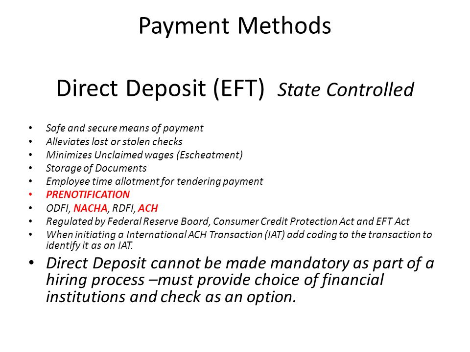 ODFI, RDFI, NACHA, ACH ODFI – Originating Depository Financial Institution – This file contains, the employee wages, their account number and their financial institution.