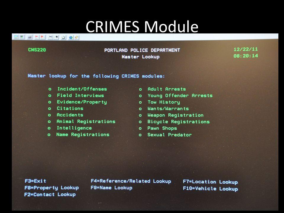 CRIMES Module