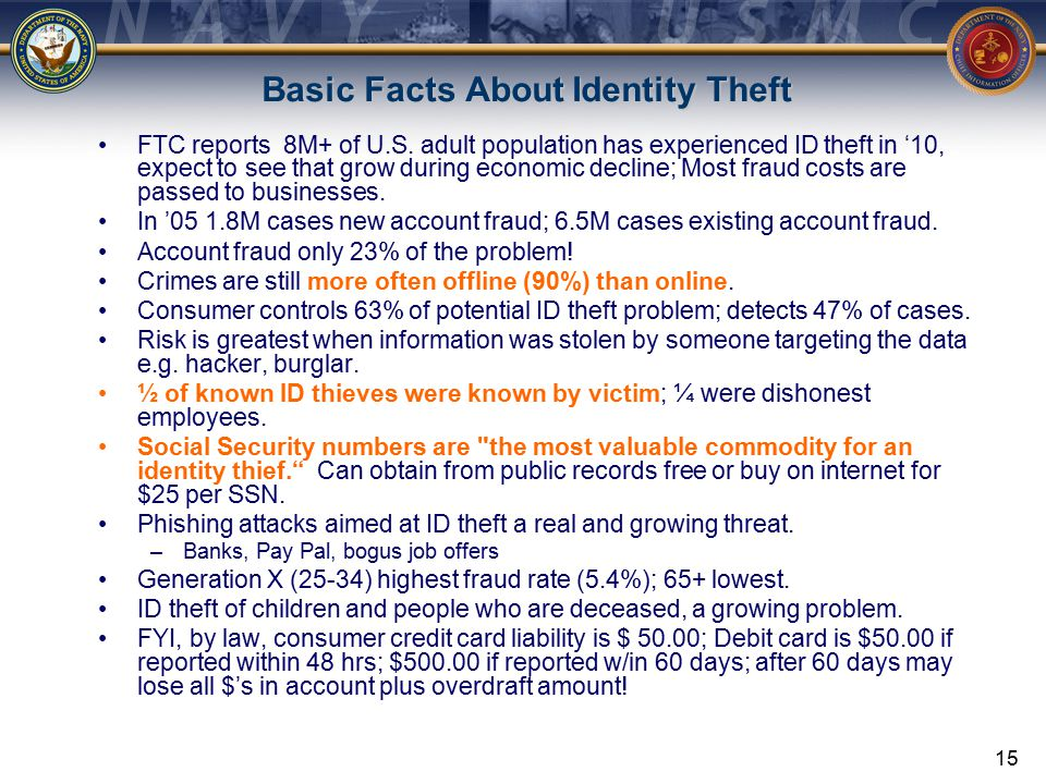 15 Basic Facts About Identity Theft FTC reports 8M+ of U.S.