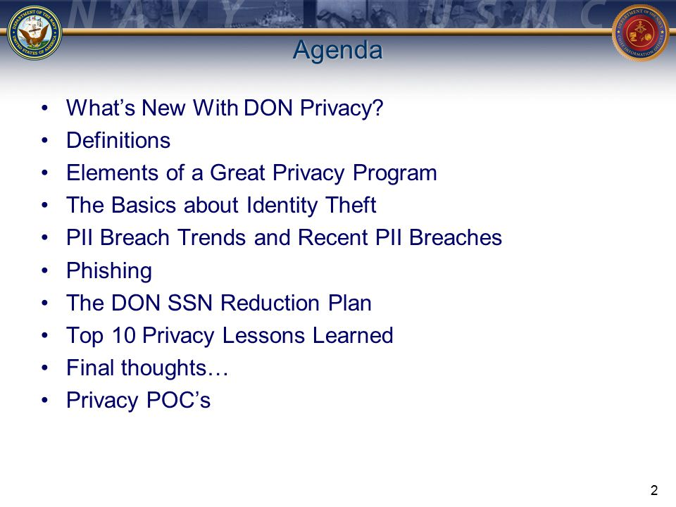 What's New with DON Privacy.