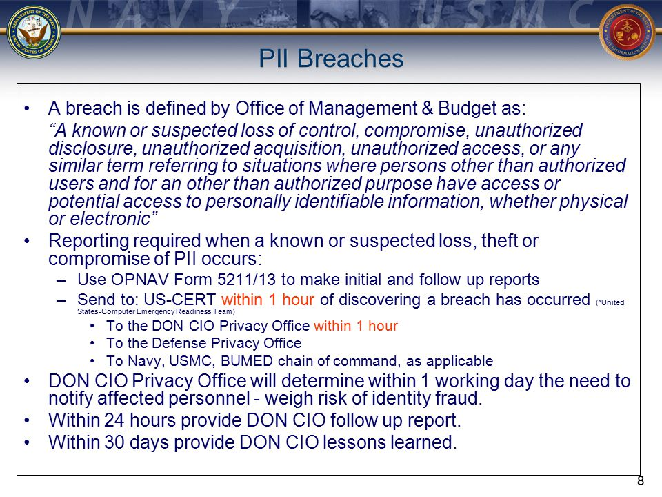 Seven Elements of a Great Privacy Program Leadership Risk Management and Compliance Information Security Incident Response Notice and Redress for Individuals Privacy Training and Awareness Accountability