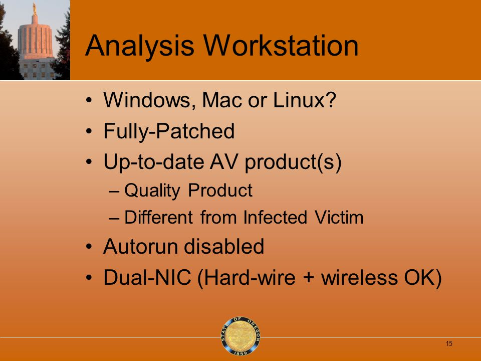 Analysis Workstation Windows, Mac or Linux.