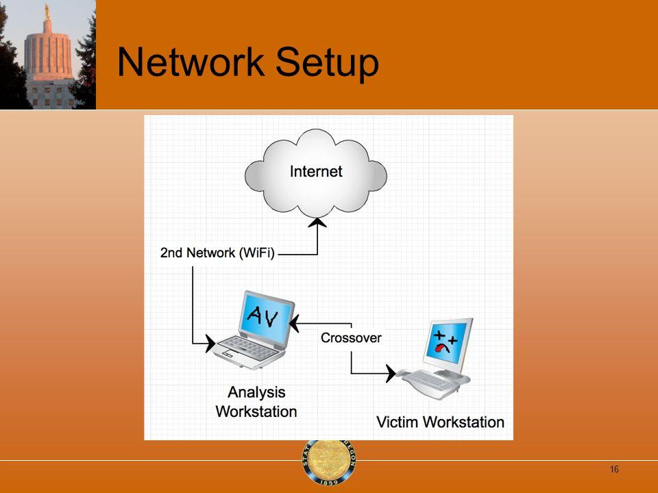 Network Setup 16