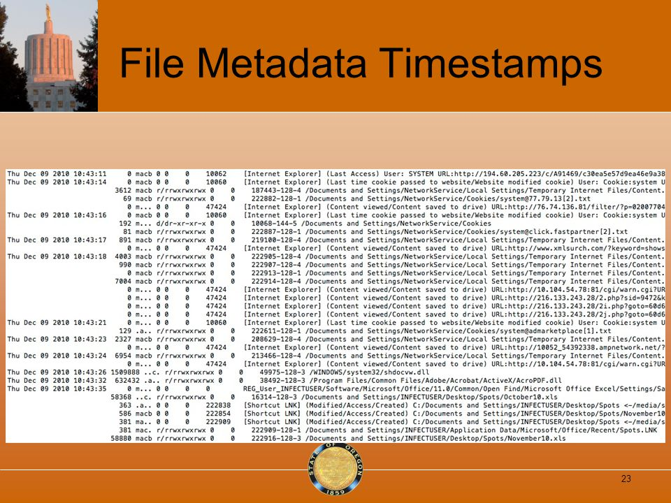 File Metadata Timestamps 23