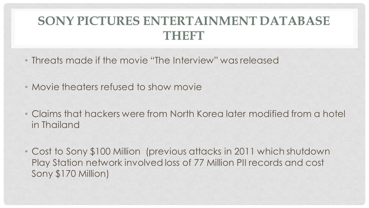 TOP 10 DATA BREACHES 2014 Ebay - 145 million J.P.