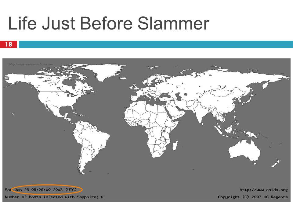 Life Just Before Slammer 18