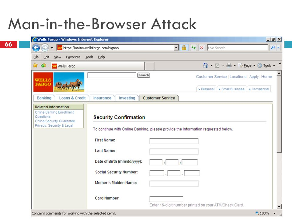 Man-in-the-Browser Attack 66
