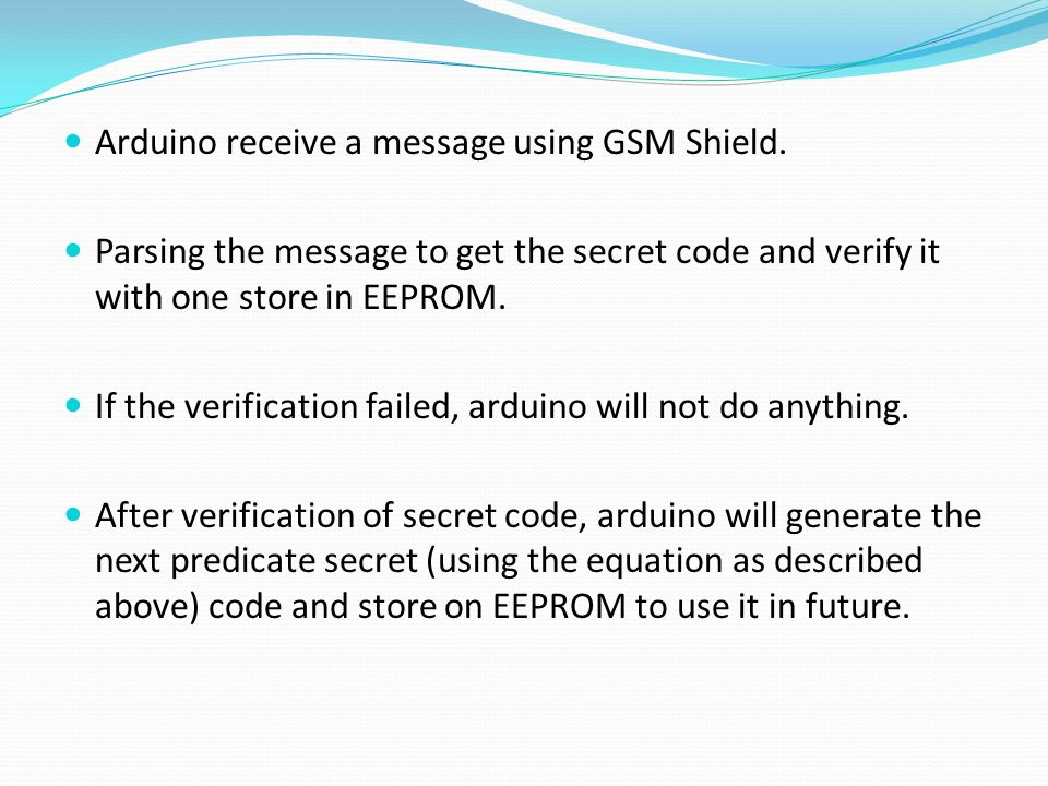 Arduino receive a message using GSM Shield.