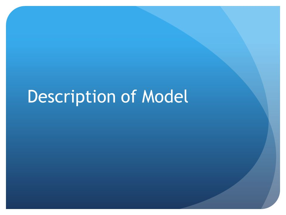 Description of Model