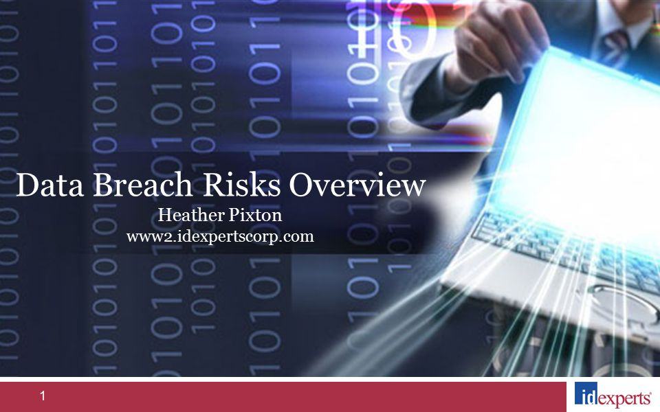 1 Data Breach Risks Overview Heather Pixton www2.idexpertscorp.com