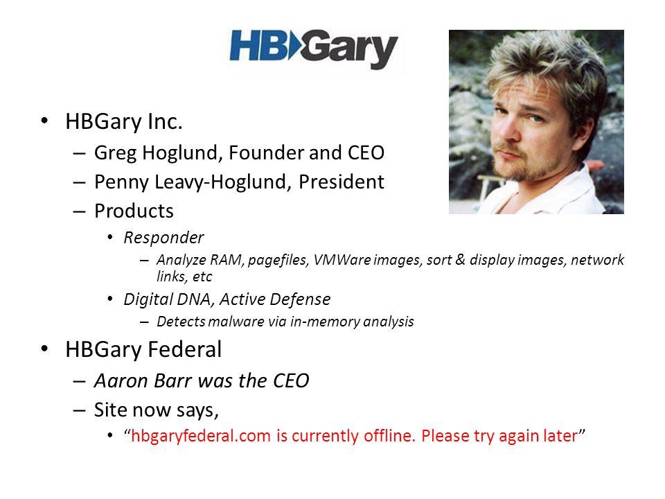 HBGary Inc.
