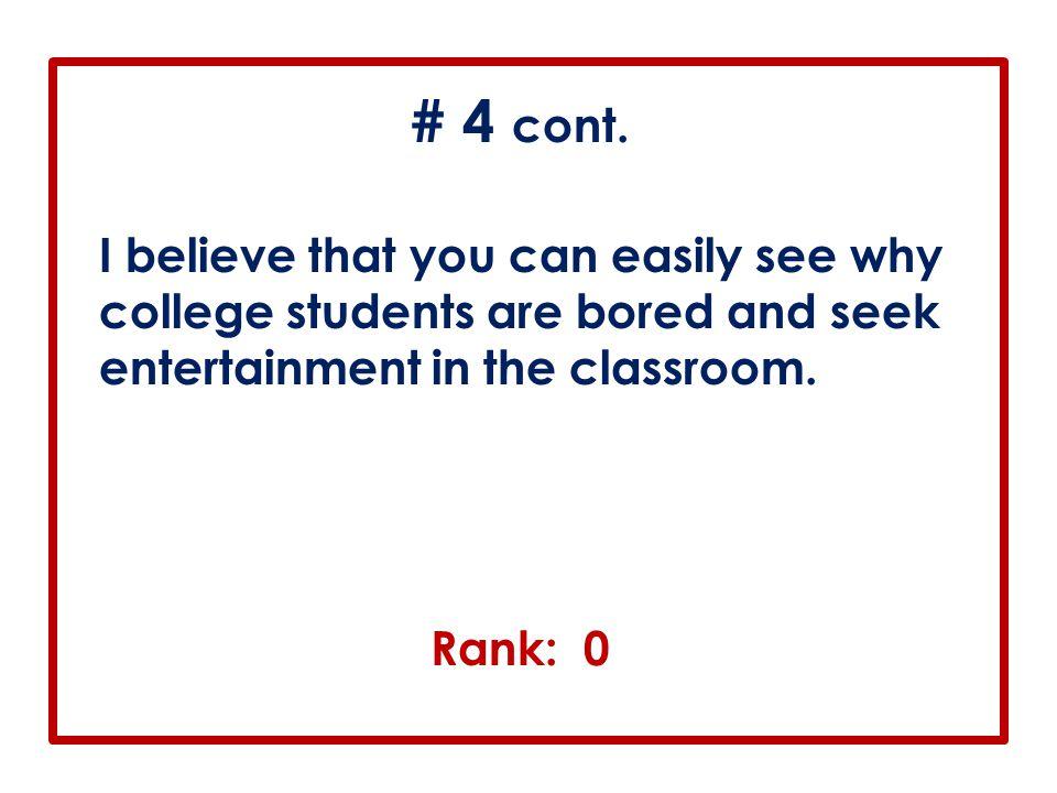 # 4 cont.