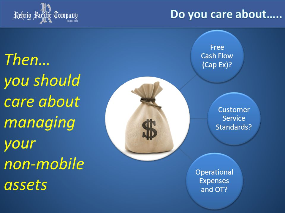 Then… you should care about managing your non-mobile assets Free Cash Flow (Cap Ex).
