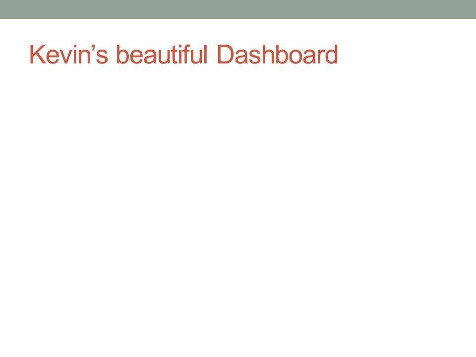 Kevin's beautiful Dashboard