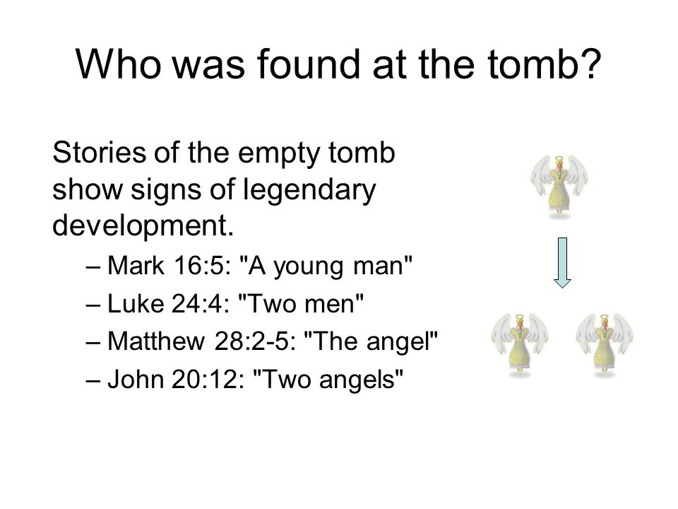 Where Was The Tomb Stone When Mary/the Women Arrive? Matthew 28:2: It was still in place. The women see an angel descend and roll away the stone. Mark