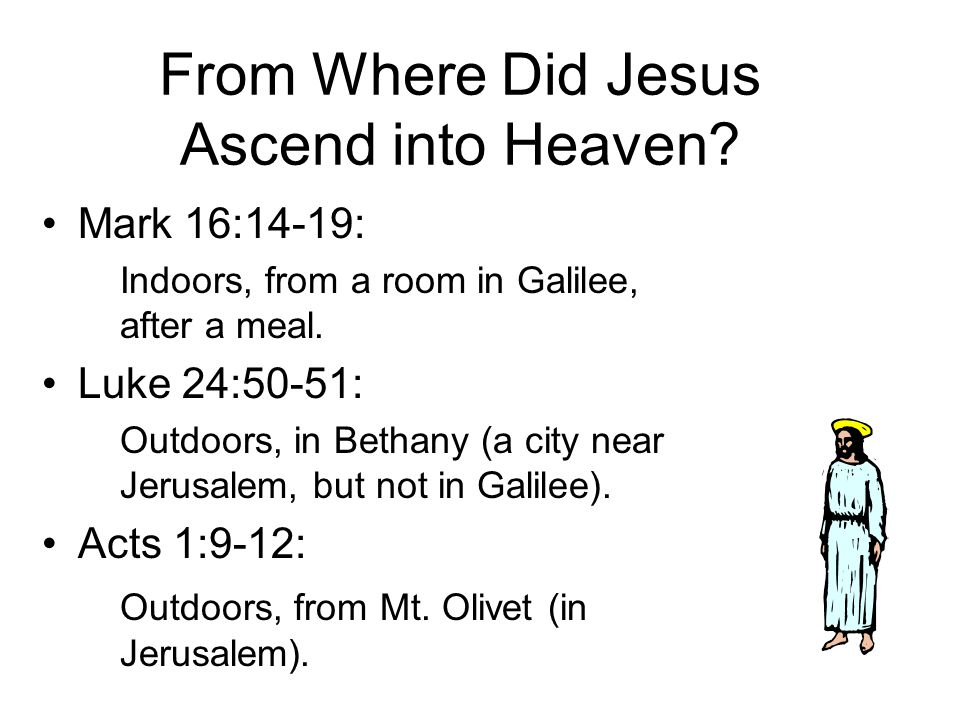 How Long Did the Resurrected Jesus Stay on Earth Before the Ascension? Luke 27: One day. John 20:21: About ten days. Acts 1:3: 40 days.