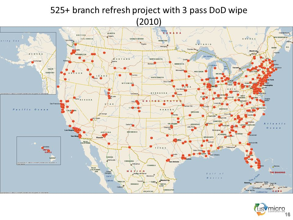 16 525+ branch refresh project with 3 pass DoD wipe (2010)