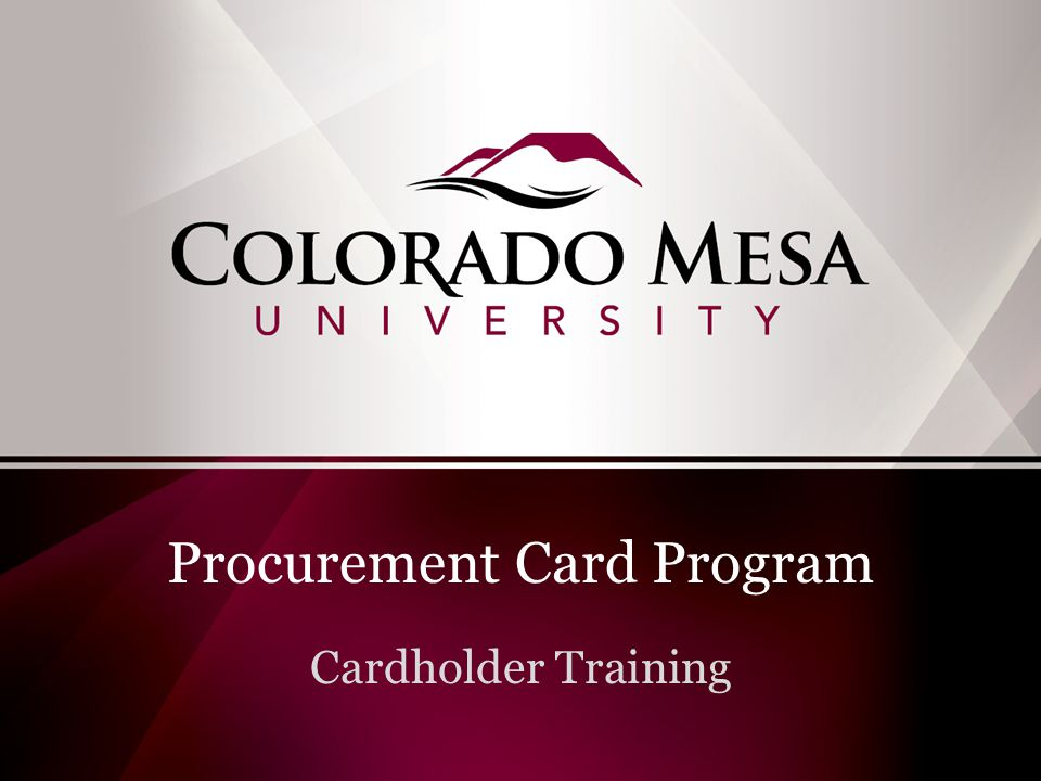 Purchasing Goods & Services at Colorado Mesa University Purchases of $3,000 or less Use your Pro Card Reallocate on Payment Net Purchases greater than $3,000 Contact purchasing for available options The Pro Card is the preferred method of payment for small dollar purchases.