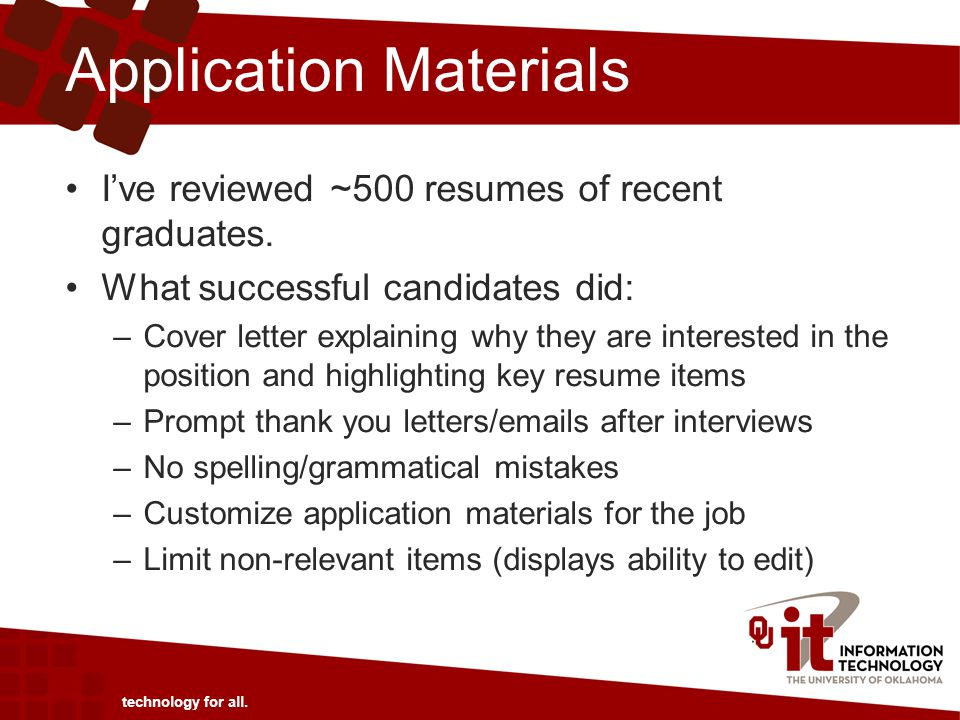 Application Materials I've reviewed ~500 resumes of recent graduates.