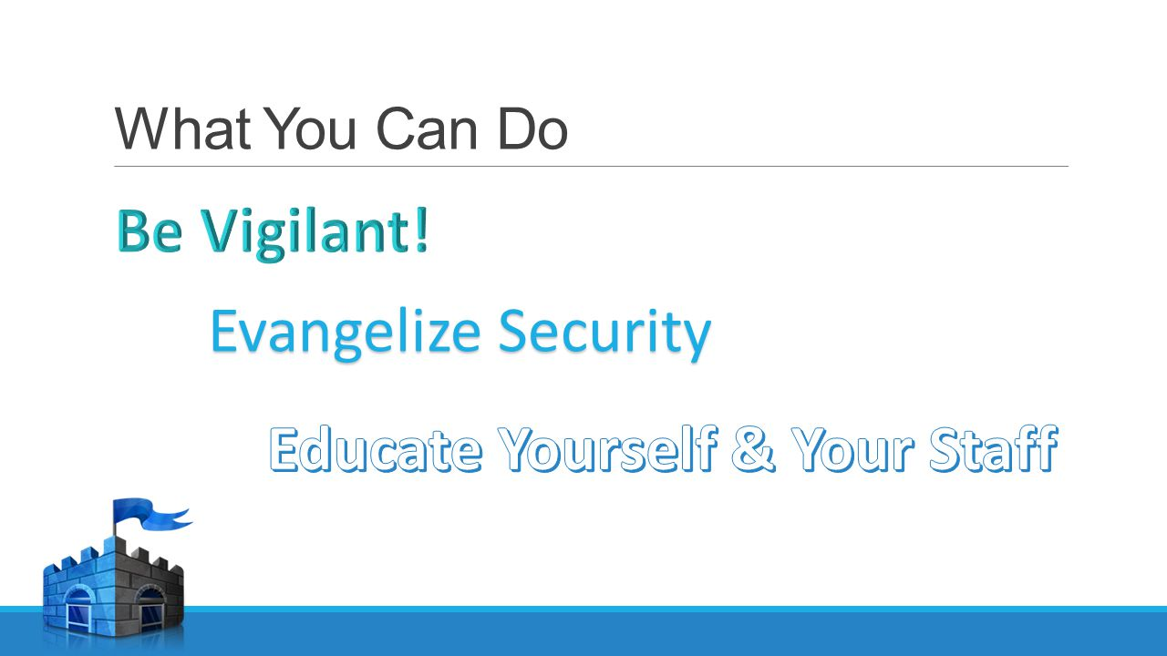 What You Can Do Evangelize Security